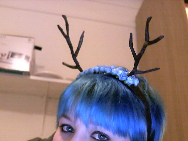 Homemade antlers 1 by Drinya