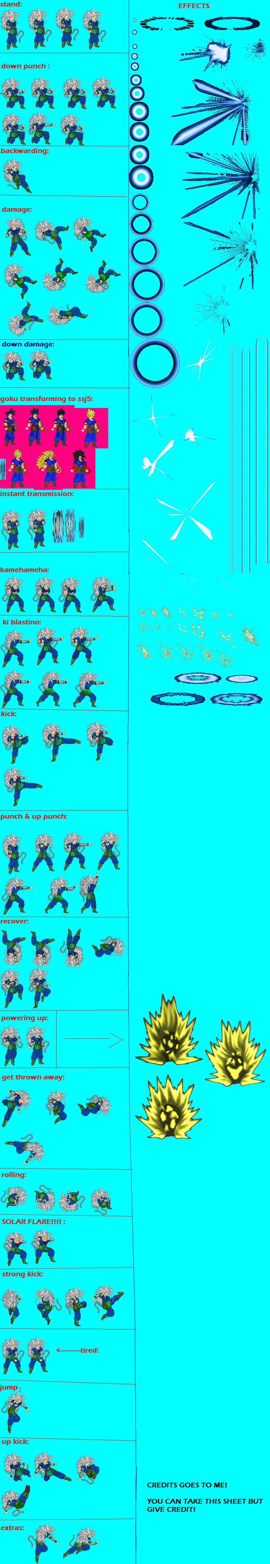 SSJ5 Goku Sprite Sheet by spritezmaster on DeviantArt | 900 x 5207 jpeg 1185kB
