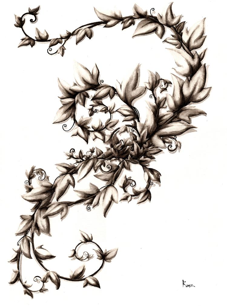 Tattoo vine by taiyo85 on deviantart for Mens vine tattoo