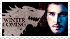 Jon Snow stamp by psyxi0