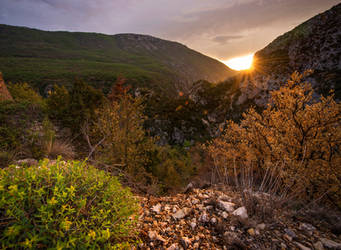 Verdon Sunset by RawPoetry