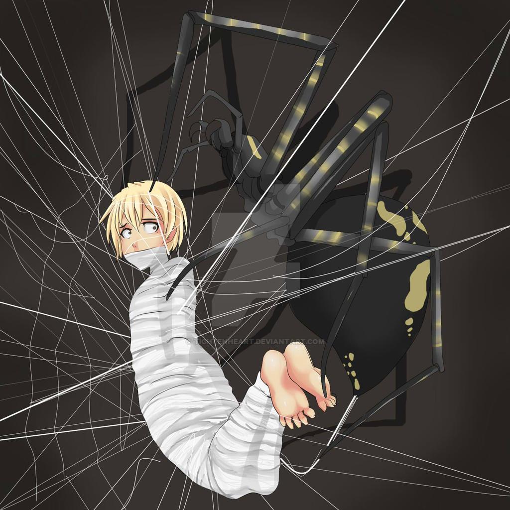 web him spider Bondage trapped
