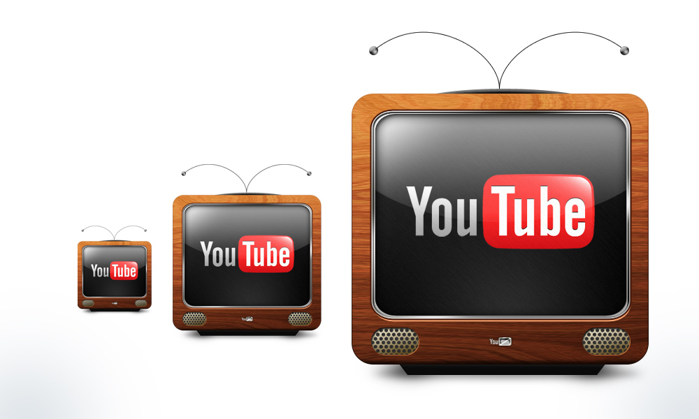 Vintage Youtube Icon by pannpann