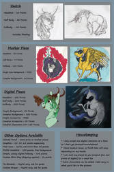 [COMMISSIONS]: As of August 2017 by BluegrassBrooke