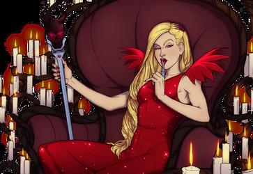 Lady Despair Twin Sanity Infernal-Liya Commission