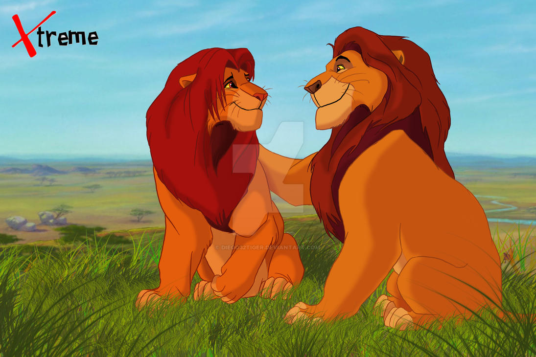 The lion king mufasa and simba by diego32tiger