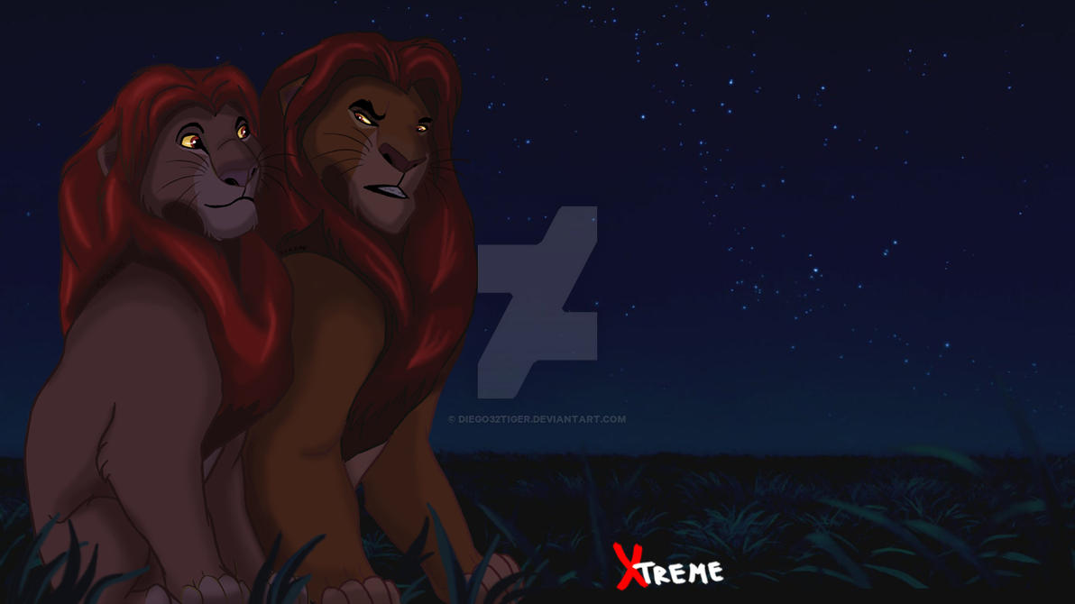 The Lion King - Mufasa and Simba by Diego32Tiger