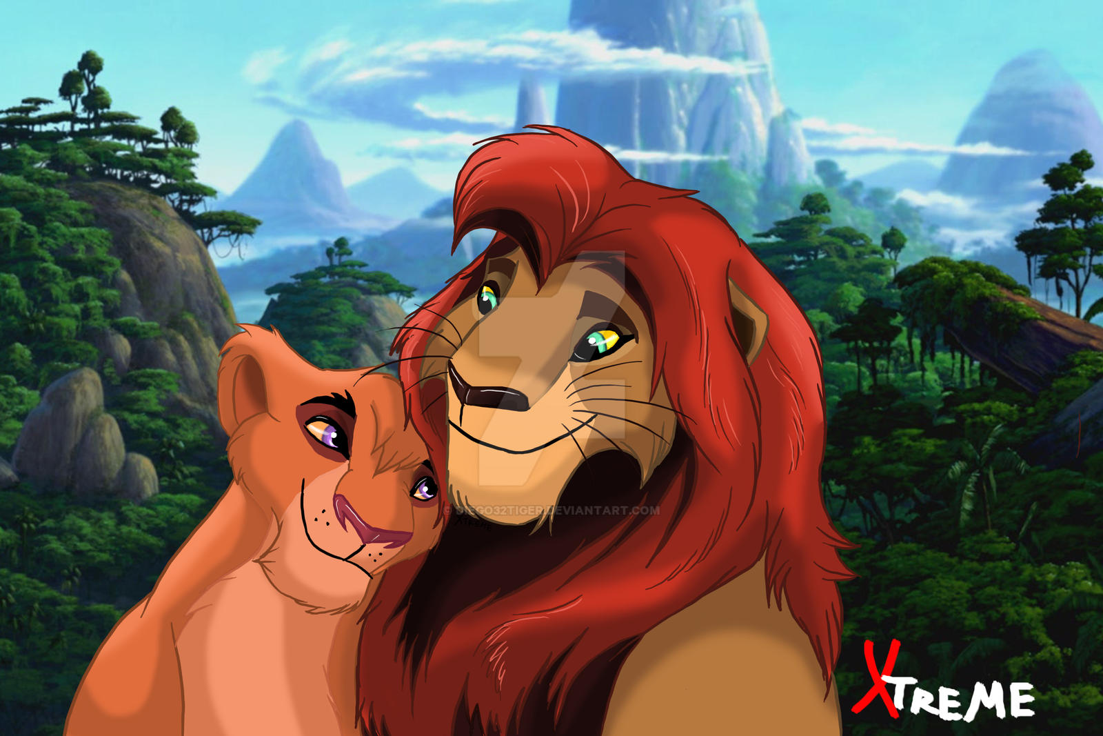The Lion King Kopa And Vitani By Diego32tiger On Deviantart