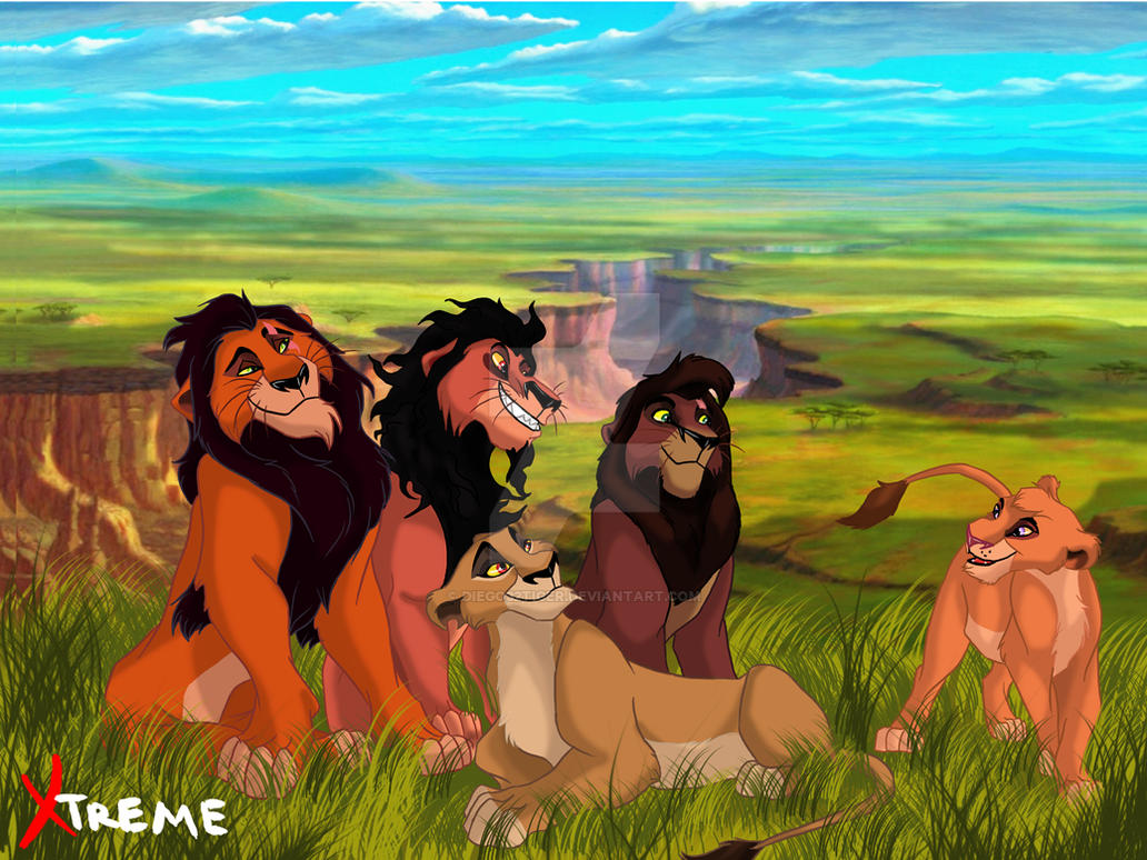 The Lion King - Scar, Zira, Nuka, Kovu and Vitani by Diego32Tiger