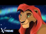 The Lion King - Kopa  and northern lights
