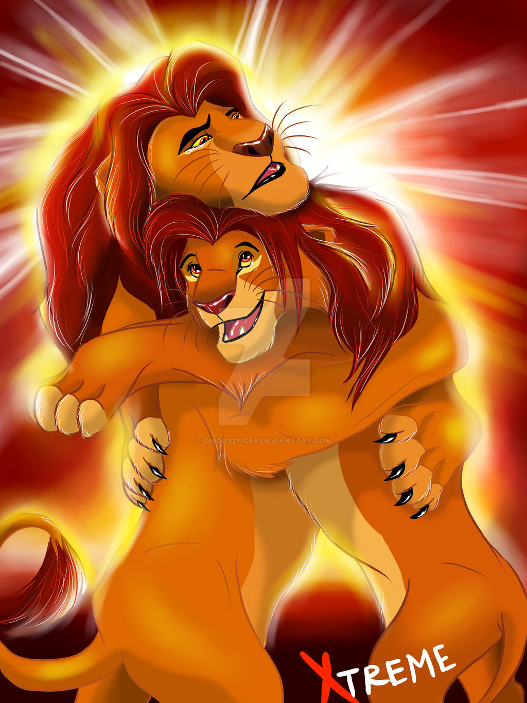 The Lion King Mufasa And Simba Forever By Diego32tiger On