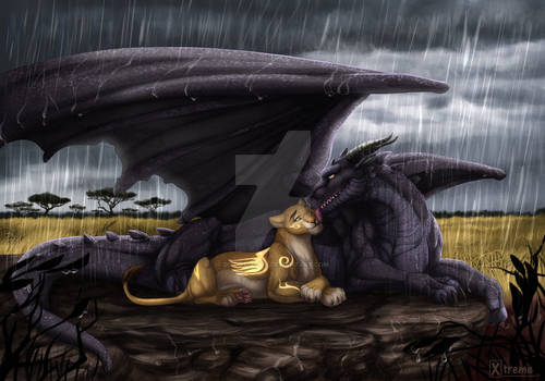 Fall in love under the rain
