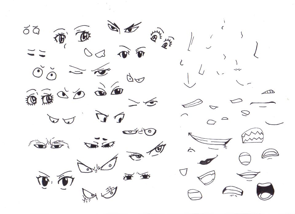 FT Eyes, Noses and Mouths by BlueRiser