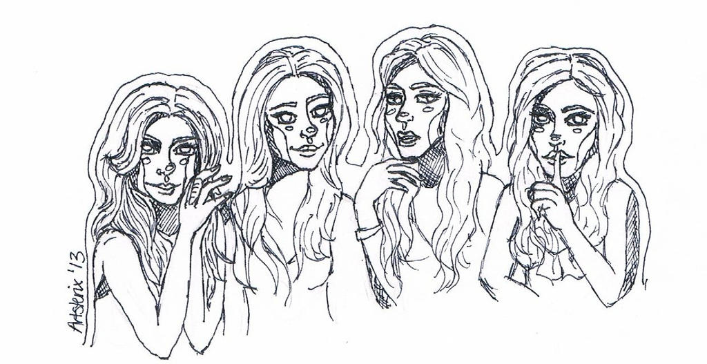 Pretty little liars by artsterix on deviantart for Pretty little liars coloring pages