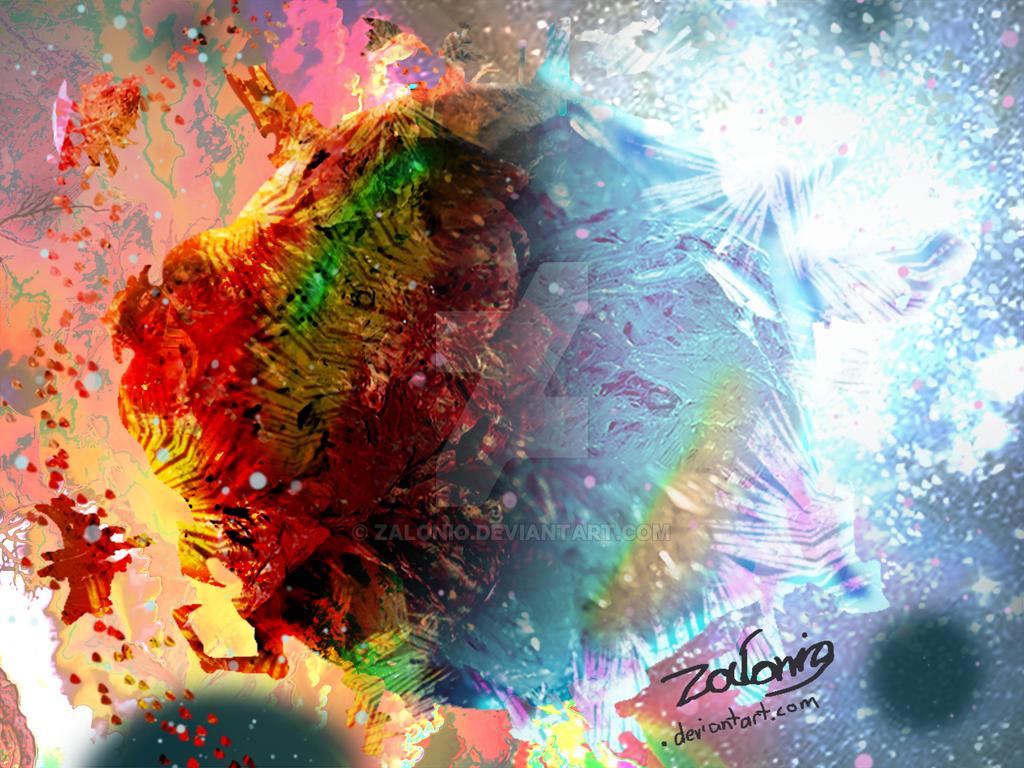 When We Collide - Digital Art by Zalonio