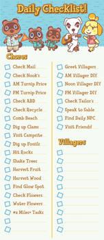 Animal Crossing New Horizons Daily Checklist!