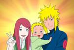 Naruto : Kushina, Naruto And Minato (Colo)