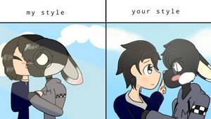 My style / your style (XxArtsyLlamaxX's collab)