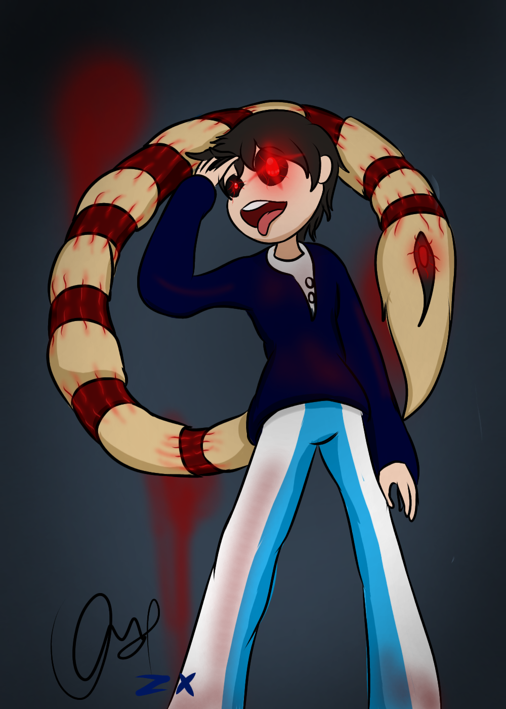 Zero as Ghoul (alternative Kagune)