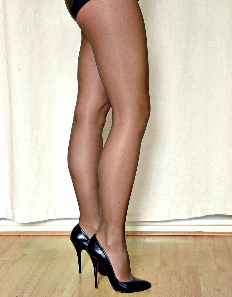 In black pantyhose 2