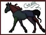 Grell foal pixel by EmeraldTheWolf