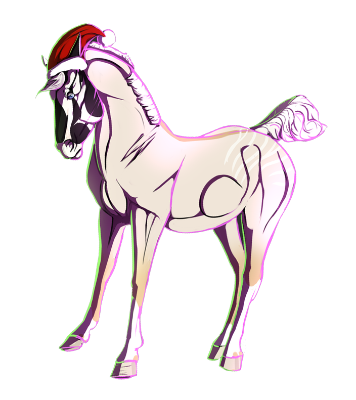 Christmas Colored Sketch COPYRIGHT TO KANINKOMPIS by EmeraldTheWolf
