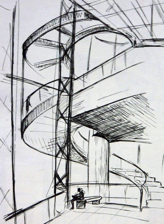 Architecture sketch 2 by eleoatm on deviantart for Architecture sketch