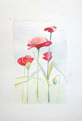 Flowers 2, watercolor