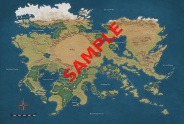 Sample Continent Map by simetradon