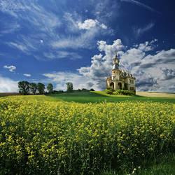 Far away across the fields