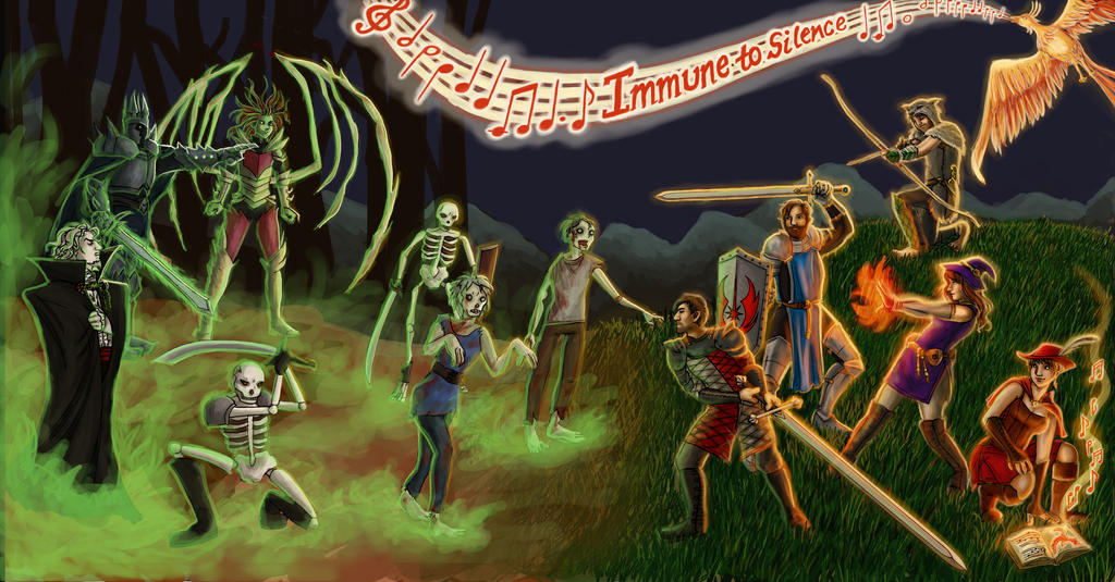 Album Cover, Immune to Silence by selie