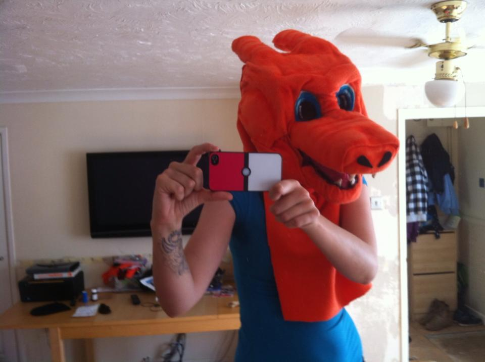 charizard cosplay head improved 6 by DanteJackpot
