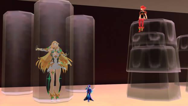 Shrunken Xenoblade 2 Girls