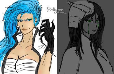 Grimmjow and Ulquiorra Female by Kathyana
