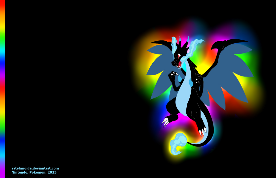 Mega Charizard X Wallpaper By Estefanoida