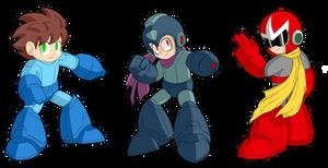 SSB4 Mega Man alternate costumes 1