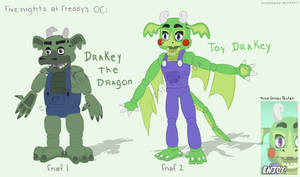 Fnaf OC: Drakey the Dragon! (In-game details!)