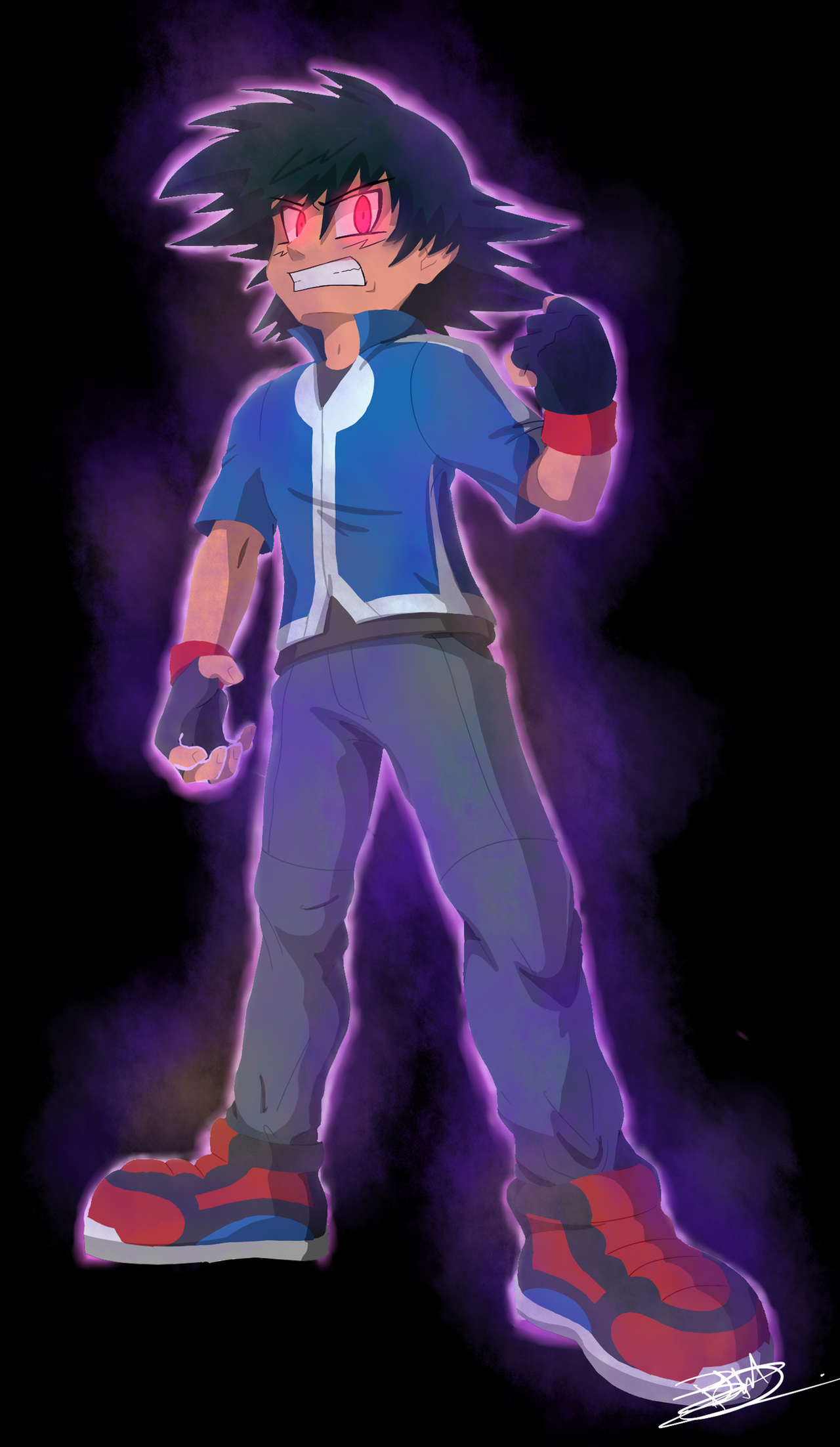 Yami Satoshi (Ash) by Estefanoida on DeviantArt