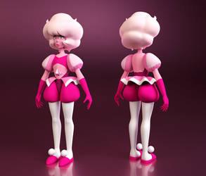 One very Pink Model (WiP) by Estefanoida