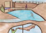Nothosaurus enclosure