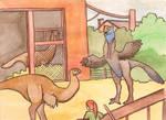 gigantoraptor enclosure