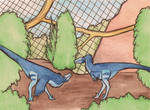 velociraptor enclosure