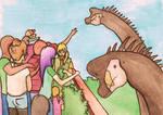 Brachiosaurus feeding