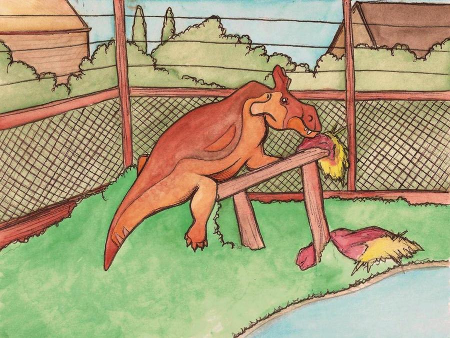 estemmenosuchus enclosure by halfpennyro04