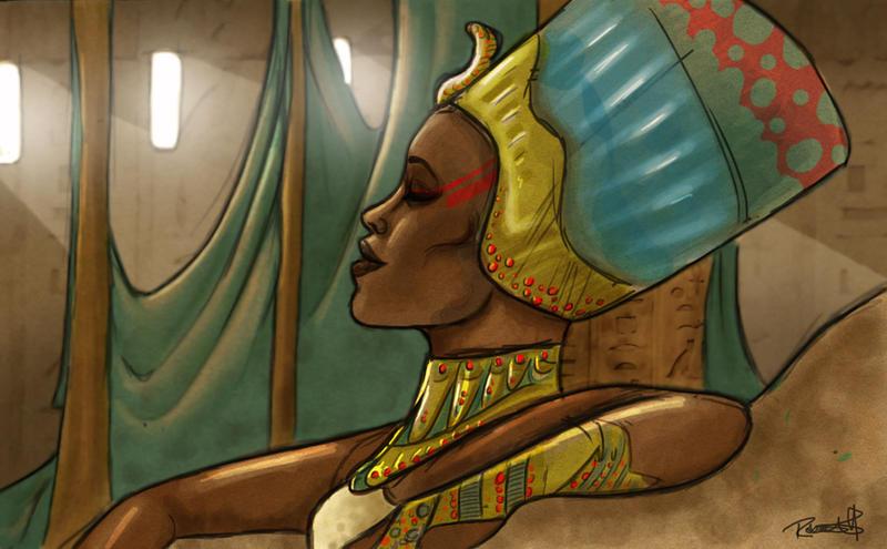 Nefertiti by halfpennyro04
