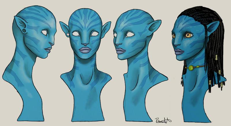 Neytiri bust design by halfpennyro04