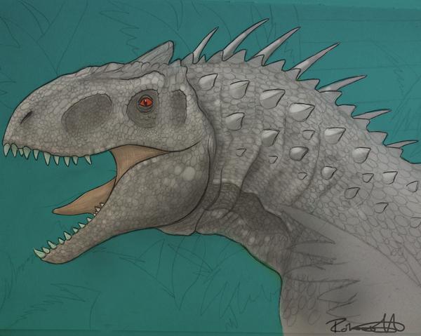 Indominus Rex by halfpennyro04