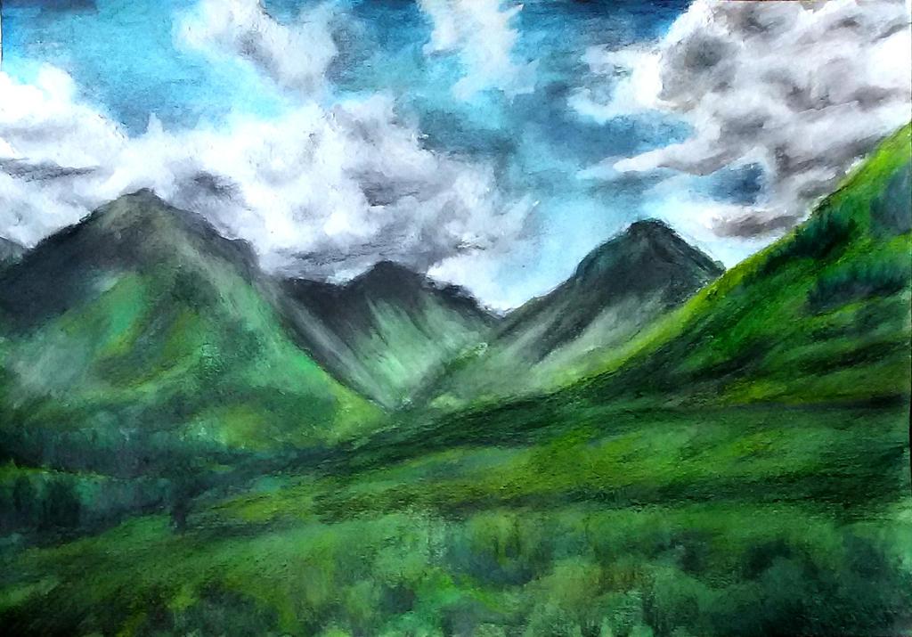 White clouds by Mona-Hliza