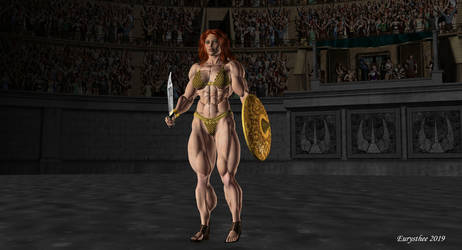 Red Sonja, golden suit 01 by eurysthee
