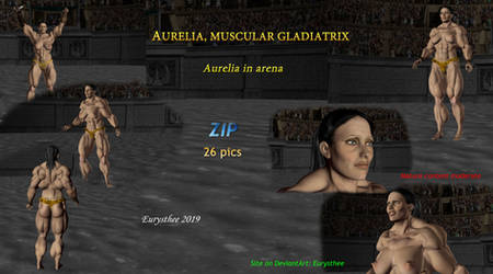 Aurelia, muscular gladiatrix 01 by eurysthee